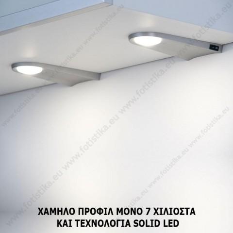 KEY-W Inox LED ΦΩΤΙΣΤΙΚΑ ΠΑΓΚΟΥ ΚΟΥΖΙΝΑΣ